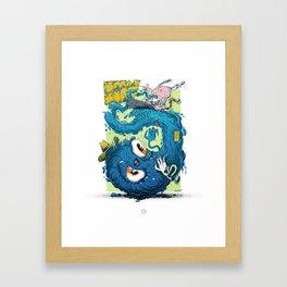 SPRAYSURF Framed Art Print