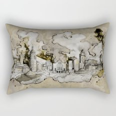 Cottbus Monument Skyline Illustration by carographic, Carolyn Mielke Rectangular Pillow