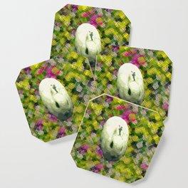 Lapin et de Fleurs Coaster