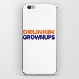 drunkin grownups parody iPhone Skin