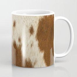 Pattern of a Longhorn bull cowhide. Coffee Mug
