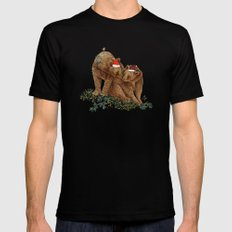 christmas bears Mens Fitted Tee Black MEDIUM