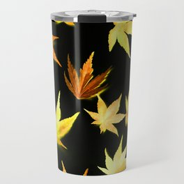 AUTUMN ROMANCE - LEAVES PATTERN #4 #decor #art #society6 Travel Mug