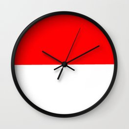 flag of indonesia Wall Clock