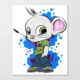 Stay 100 Mouse B2S Canvas Print