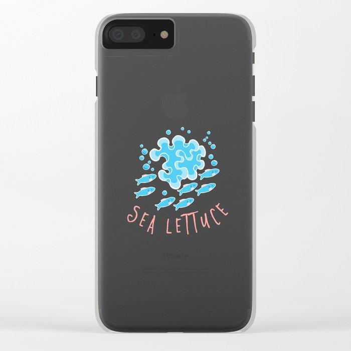 Sea Lettuce Clear iPhone Case