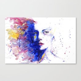 Colourful painting of women Canvas Print
