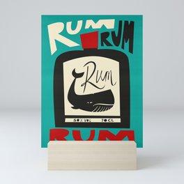 The Ocean Rum Whale  Mini Art Print