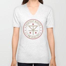 I Am Healthy activated magickal sigil tshirt gift Unisex V-Neck