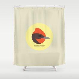 Vermillion flycatcher Shower Curtain