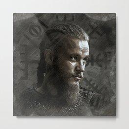 Ragnar Lodbrok - Vikings Metal Print