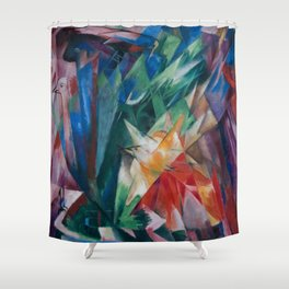 "Franz Marc ""Birds"" Shower Curtain"