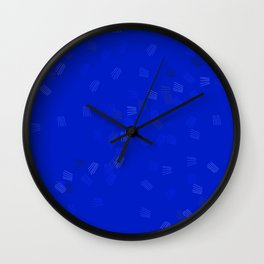 Blue puzzle Wall Clock