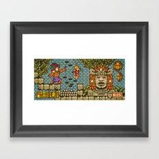 Legends of the Hidden Temple - Olmec Coming! Framed Art Print