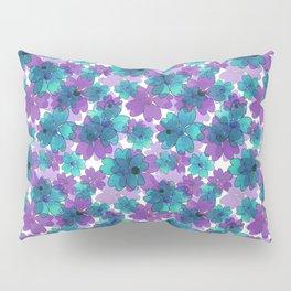 Purple blue floral pattern. Pillow Sham