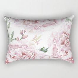 Pretty Pink Roses Flower Garden Rectangular Pillow