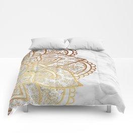 Mandala - Gold & Marble Comforters