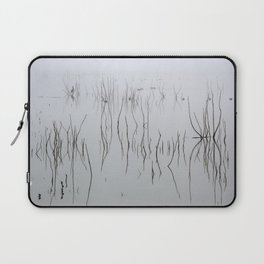 Zen time. Cormorants. Foggy sunrise at the lake. Laptop Sleeve