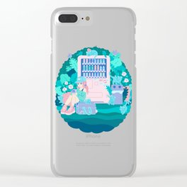 Cats Vending Clear iPhone Case