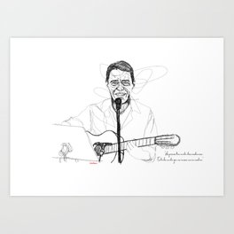 Chico Buarque in Lines Art Print