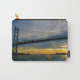 The Ambassador Bridge connects Detroit USA, & Windsor CA Carry-All Pouch