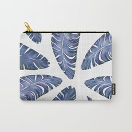 Tropical Banana Leaves Blue #society6 #buyart Carry-All Pouch