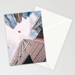 Plane Over New York City Stationery Cards