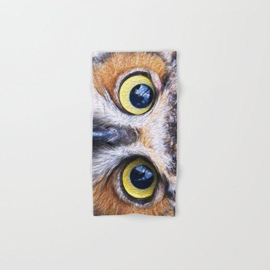 Big Eye Owl Hand & Bath Towel