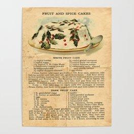 Fruit Cakes - Vintage Poster