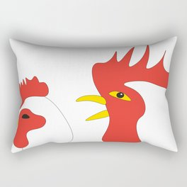 Hen and cock Rectangular Pillow