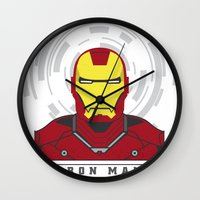 ironman Wall Clocks featuring IRONMAN by Nuthon Design