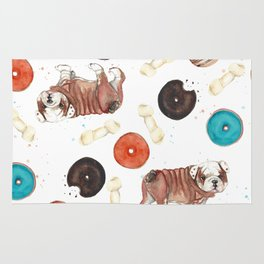 Bulldogs and donuts Rug