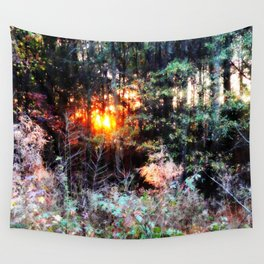 Sunset Forest : Where The Fairies Dwell Wall Tapestry