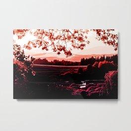 idyllic nature landscape va2s Metal Print
