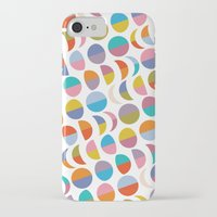 moon phases iPhone & iPod Cases featuring Moon phases by Helene Michau