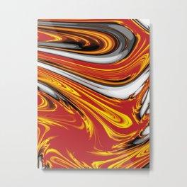 Magma Abstract Metal Print