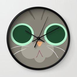 Cat Face 5 Wall Clock