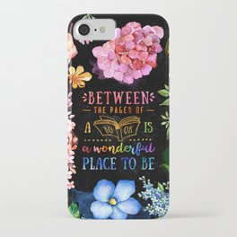 Between the pages - black iPhone Case