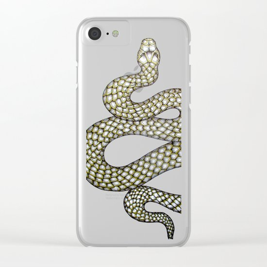 Snake's Charm in Black Clear iPhone Case