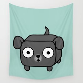 Pitbull Loaf - Blue Grey Pit Bull with Floppy Ears Wall Tapestry