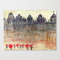 brussels Canvas Prints featuring Brussels by takmaj