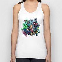 super heroes Tank Tops featuring Super Heroes by Carrillo Art Studio
