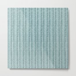 Herringbone Vines Metal Print