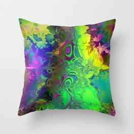 Color Explosion Psychedelic Abstract Art  Throw Pillow