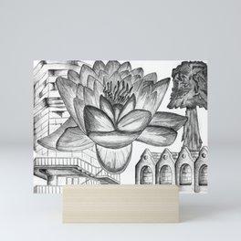 A Flower Above Shelter Mini Art Print
