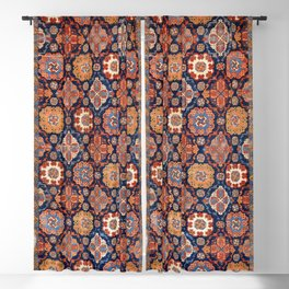 Tuduc Romanian Holbein Carpet Replica Print Blackout Curtain