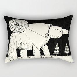 'Polar Bear & Moon' Rectangular Pillow