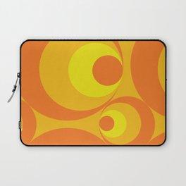 Crazy Orange Circles Laptop Sleeve