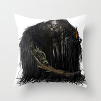 dark souls Throw Pillows featuring Gravelord Nito - Dark Souls by VerticalSynapse
