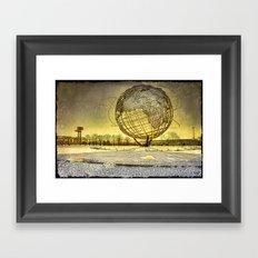 Unisphere Sunset Framed Art Print